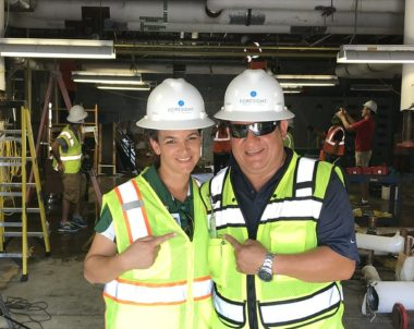 Hillsborough County Public Schools Construction workers
