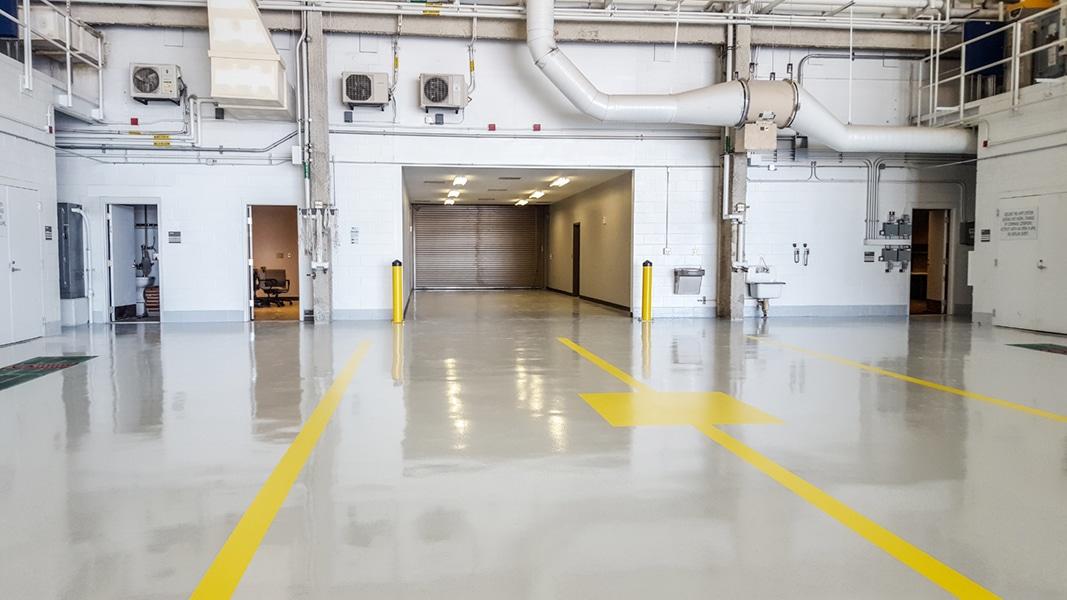 Interior of NAVFAC Hangar 511