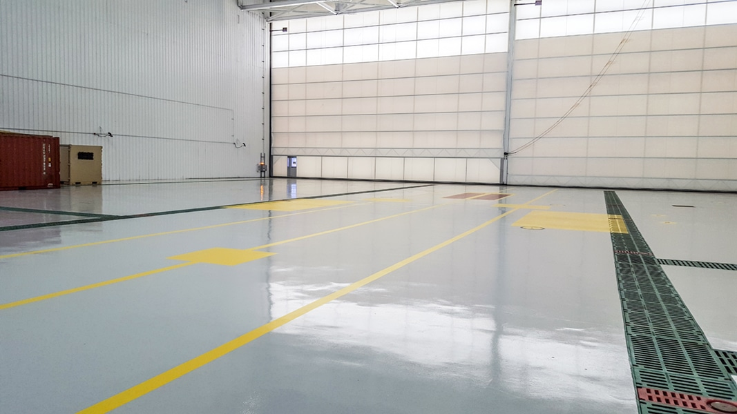 Interior of NAVFAC Hangar 115